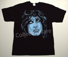JEFFERSON AIRPLANE Grace Slick drawing 6 CUSTOM ART UNIQUE T-SHIRT   Each T-shirt is individually hand-painted, a true and unique work of art indeed!  To order this, or design your own custom T-shirt, please contact us at info@collectorware.com, or visit  http://www.collectorware.com/tees-jefferson_airplane.htm