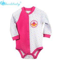2016 neugeborenen Baby Mädchen Kleidung Neue Mode 100% Baumwolle Langarm-body Mädchen Kleidung Sommer Säuglingskleinkindsonnehut Overall