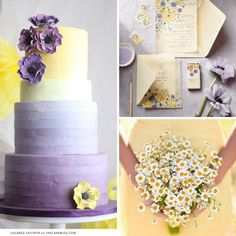 This yellow and lavender wedding inspiration will get the heart of every spring bride racing! Lavender Wedding Theme, Spring Wedding Colors, Wedding Flowers, Wedding Yellow, Lavender Weddings, Yellow Weddings, Wedding Colours, Trendy Wedding, Perfect Wedding