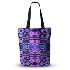 """Nina May """"Deztecca Lilac"""" Purple Blue Everything Tote Bag"""