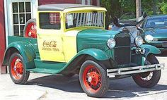 "1930 Model A Ford Closed Cab Pickup ""Coca Cola"""
