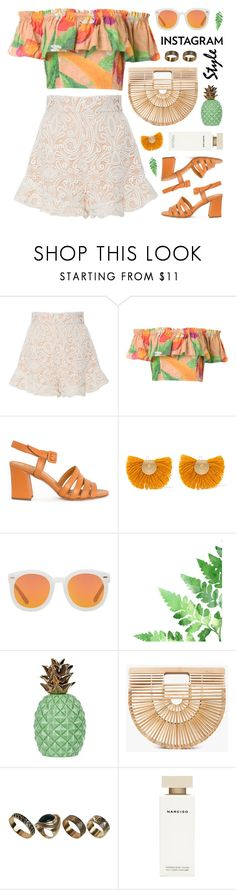 """""""60-second style: insta-ready"""" by jesuisunlapin ❤ liked on Polyvore featuring Alexis, Isolda, Palma, Katerina Makriyianni, Karen Walker, Cult Gaia, ALDO, Narciso Rodriguez, croptop and instagramstyle"""