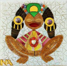 #GermanySignsProject  Nereida Aponte - ATABEY, fertility Taino symbol Mosaic Projects, Art Projects, Taino Symbols, Jung In, Special People, Letters And Numbers, Mosaic Art, Archaeology, Spiderman