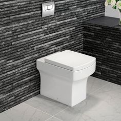 Modern Square Design Back to Wall Toilet Single Tap Hole - soak.com