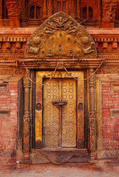 by Cyril Caballero Temple Door, Nepal
