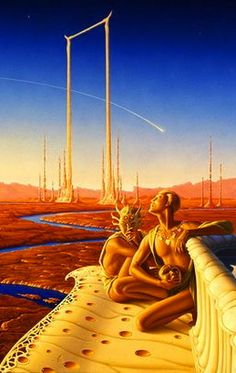 ☆ Descent -Detail - By Artist Michael Whelan ☆ reminds me of the cover to The Martin Chronicles Science Fiction Art, Science Art, 70s Sci Fi Art, Alternate Worlds, Classic Sci Fi, The Future Is Now, Film Inspiration, Sci Fi Books, Sci Fi Fantasy