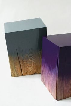 Trift by Judith Seng – brushed and high-glossy lacquered solid wood logs