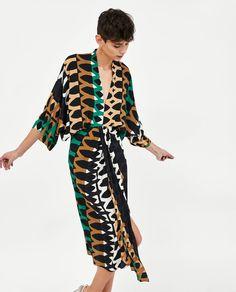 4d749f2cf4e5 Image 2 of PRINTED DRAPED DRESS from Zara Zara United Kingdom