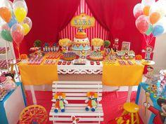 ideias para festa infantil tema circo - Pesquisa Google