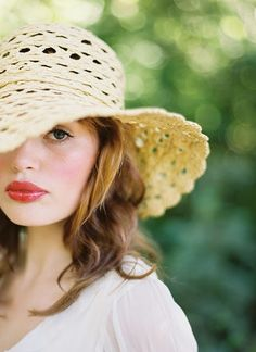 My lip color for wedding?  Also wish I looked this cute in a straw hat.