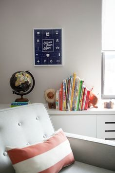 Personalized Nursery Art and Reading Chair