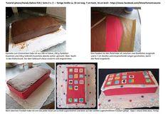 Silvia's Tortenträume: Tutorial Anleitung Fondanttauglich Torte Handy IPhone mit Sahne Seite 2/2