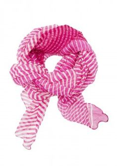 FIGUE PINK STRIPED SCARF.
