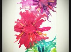 Fun and easy way to recycle broken crayons found in your or your kid's old school supplies. Great art project for the family!
