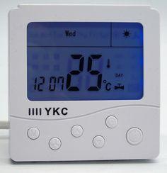 Ruso Inglés operación manual Pantalla LCD Digital Termostato de la caldera de gas para AC220 50/60Hz (B703)