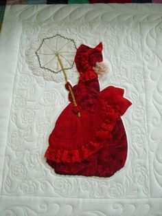 "Patterns & Inspiration... - APQS.    (Bonnet Girls Patterns of the Past Pattern Book Applique by Helen R Scott). ""Ruby"""
