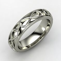 Men's white gold infinity band... My valentine day present to my hubby.