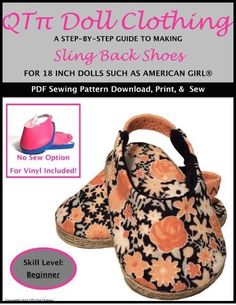 "SLING BACK SHOES 18"" DOLL SHOES"