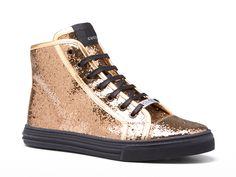 Gucci California glittered cotton high-top sneakers - Italian Boutique €315