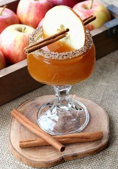 Fall wedding cocktail idea - Cidertini cocktails {Courtesy of Mantitlement} #ad