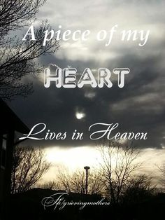 A piece of my Heart lives in Heaven ♥ it will always be part of you. ♥ Love you Heather