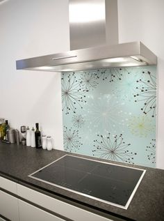 Dandelion Pattern Printed Glass Splashback from DIYSplashbacks.co.uk