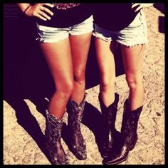 Cutoffs and boots!
