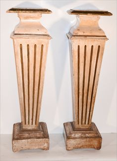 Pair of Painted Fluted Pedestals From Joyce Horn $1,200.00