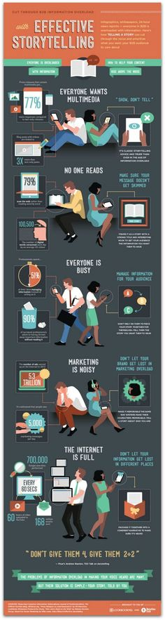 Tips for effective storytelling as you cut through information overload. #infographic #tips #guide