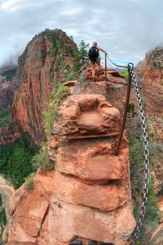 Angels Landing Hike, Zion National Park, Utah - USA