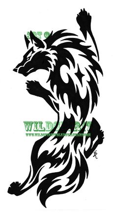 Climbing Wolf Tribal Tattoo by WildSpiritWolf on @DeviantArt