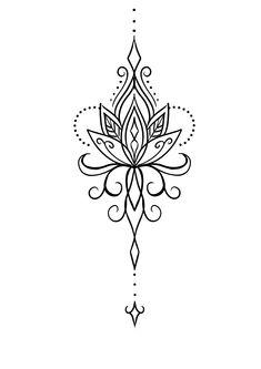Mini Tattoos, Flower Tattoos, Body Art Tattoos, Unalome Tattoo, Sternum Tattoo, Cool Symbols, Tattoo Flash Art, Get A Tattoo, Mandala Design