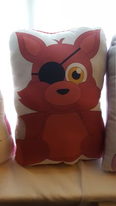 Five Nights At Freddy's Foxy Plush Pillow by Fanbustion on Etsy