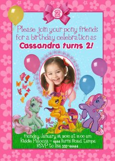 a couple cute invitation ideas to remember.  MY LITTLE PONY BIRTHDAY INVITATIONS