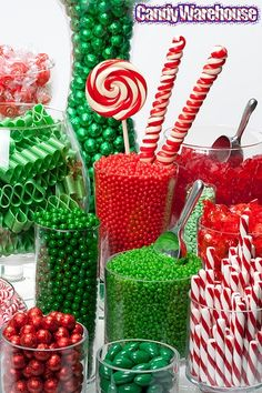 Christmas candy Buffet. I'm doing this for Christmas Eve Party