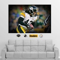 """Fathead Troy Polamalu """"In Your Face"""" Wall Graphic"""