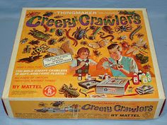 creepy crawlers! in the 60s this was hot molten plastic, sometimes kits with liquid metal.