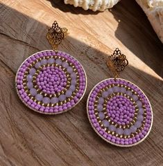 Beaded Earrings, Earrings Handmade, Beaded Jewelry, Crochet Earrings, Handmade Jewelry, Ear Jewelry, Jewelry Gifts, Jewlery, Jewelry Making