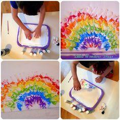 Rainbow Shaving Cream Painting (from Little Wonders' Days)  ... looks like SO much fun!