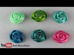 Tiara con flores kanzasi/Como hacer flores de Tela Raso Diferentes Estilos - YouTube