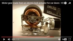 Worm gear made from an electric lock actuator for car doors Some cars have electric locks on doors. An actuator - is a device used to move parts of such locks when electric signal comes. Cnc, Locks, Electric, Door Latches, Door Locks, Castles
