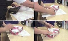 Video reveals how to wrap Christmas gifts in just 12 SECONDS   Daily Mail Online