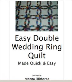 Great Double Wedding Ring Quilt Pattern I use to have a couple of throw pillows made in