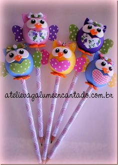 # Foam Crafts, Diy And Crafts, Crafts For Kids, Clay Pen, Pen Toppers, Diy Upcycling, Clay Animals, Polymer Clay Crafts, Cold Porcelain