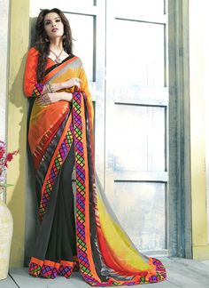 Surat Wholesale Multi Color Georgette Designer Saree Collection - Buy Now @ http://www.suratwholesaleshop.com/9113-Awe-Grey-Georgette-Designer-Saree?view=catalog  #Onlinewholesalesaree #Bulksaree #Suppliersaree #Traditionalsaree #Designersaree #Fancysaree #Suratwholesaleshop