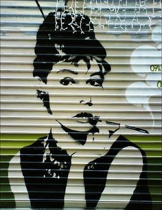 """Photo by e-chan © 2007 All rights reserved - Downloading and using without permission is illegal.   Très très chic.  Audrey Hepburn adorns a tobacco-shop at Rue du Mail, on """"plateau de la Croix-Rousse"""", one of the coolest urban neighborhood in Lyon (Fr ;) awesome! repin if you like this!"""