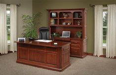 "Amish Lexington 72"" Executive Desk"