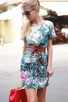 Tropical dress.