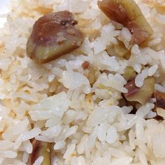 なんと 栗を茹でた物を 今朝いただいたので - 20件のもぐもぐ - 栗ご飯 by yukiemourihnF