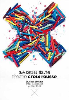 Plaquette saison 15.16  Jouez la couleur avec les spectacles de la saison 15.16 du Théâtre de la Croix-Rousse !